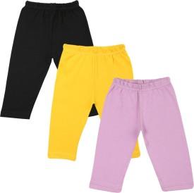 Color Fly Baby Girl's Black, Purple, White Leggings