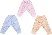 Cucumber Baby Girl's Orange, Blue, Pink Leggings (Pack Of 3)