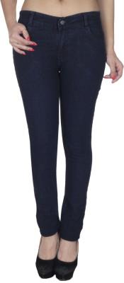Fashion-Flag-Slim-Fit-Womens-Blue-Jeans