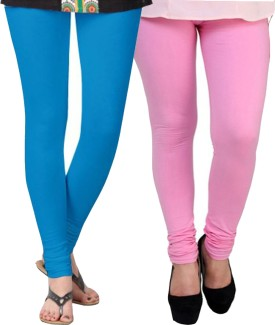 Kays Women's Blue, Pink Leggings Pack Of 2