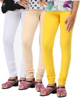 Greenwich Baby Girl's White, Black, Pink Leggings Pack Of 3