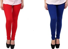 Kays Women's Red, Blue Leggings Pack Of 2