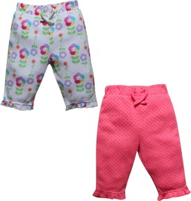 FS Mini Klub Baby Girl's White, Pink Leggings Pack Of 2