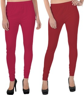 X-Cross Women's Pink, Maroon Leggings Pack Of 2