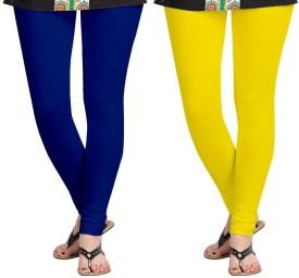 AF Sayonara Women's Blue, Yellow Leggings Pack Of 2
