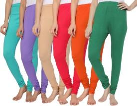 KRAZY KATZ Women's Multicolor Leggings