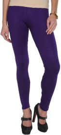 sanvitraders Women's Purple Leggings