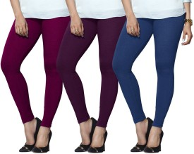 Lux Lyra Women's Purple, Purple, Light Blue Leggings Pack Of 3