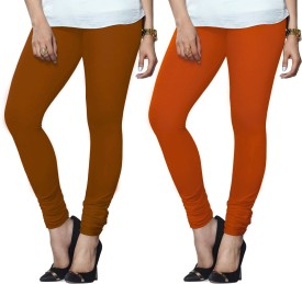 Lux Lyra Women's Pink, Orange Leggings Pack Of 2