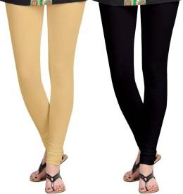 Roshni Creations Girl's Black, Beige Leggings