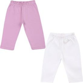 Color Fly Baby Girl's Purple, White Leggings
