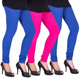 C&S Shopping Gallery Women's Blue, Pink, Green Leggings Pack Of 3