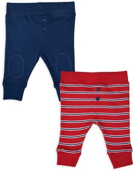 Mothercare Baby Girl's Blue, Red Leggings Pack Of 2