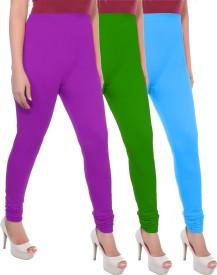 Apple Knitt Wear Women's Maternity Wear Purple, Green, Blue Leggings