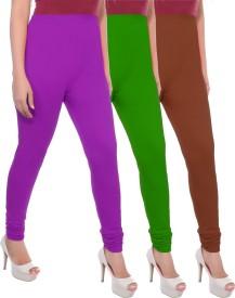 Apple Knitt Wear Women's Maternity Wear Purple, Green, Brown Leggings