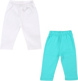 Color Fly Baby Girl's Green, White Leggings Pack Of 2