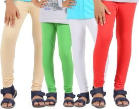 Greenwich Baby Girl's Beige, Green, White, Red Leggings