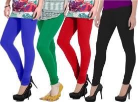 Ngt Women's Blue, Green, Red, Black Leggings Pack Of 4