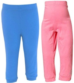 Parv Collections Girl's Pink Leggings