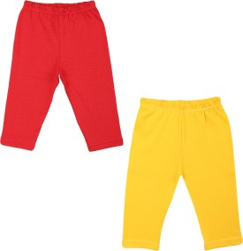 Color Fly Baby Girl's Red, Yellow Leggings Pack Of 2