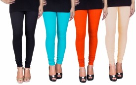 Fashion Flow+ Women's Black, Light Blue, Orange, Beige Leggings