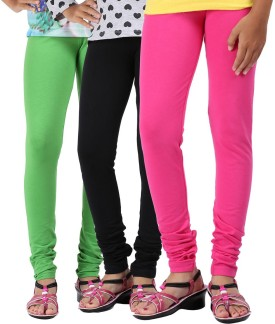 Greenwich Baby Girl's Green, Blue, Pink Leggings Pack Of 3