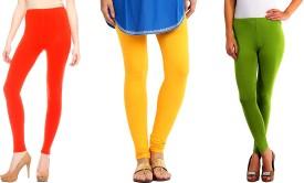 Nikita Cotton Women's Multicolor Leggings Pack Of 3