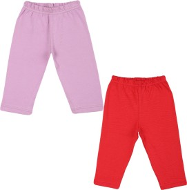 Color Fly Baby Girl's Purple, Red Leggings