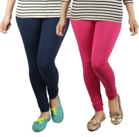 Radha's Women's Blue, Pink Leggings Pack Of 2