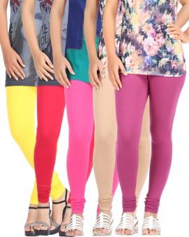 Be-Style Women's Leggings Pack Of 5