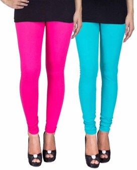 Fashion Flow+ Women's Pink, Light Blue Leggings Pack Of 2
