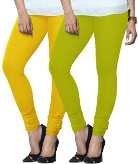 Lux Lyra Women's Dark Blue, Light Green Leggings Pack Of 2