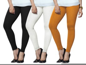 Lux Lyra Women's Black, White, Yellow Leggings Pack Of 3