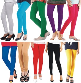 YouthStuff Women's Red, Black, Light Blue, Yellow, Beige, Blue, White, Green, Pink, Purple Leggings Pack Of 10