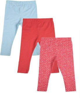 Mothercare Blue, Pink Leggings Pack Of 3