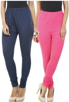 Hifi Women's Blue, Pink Leggings Pack Of 2