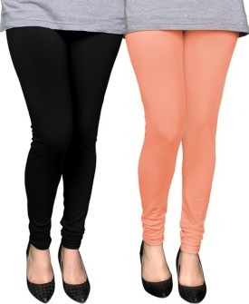 PAMO Women's Black, Pink Leggings Pack Of 2 - LJGEGBJJRAHPFRZH