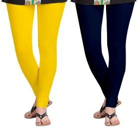 AF Sayonara Women's Yellow, Blue Leggings Pack Of 2