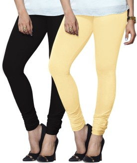Lux Lyra Women's Black, White Leggings Pack Of 2