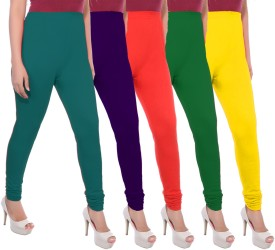 Apple Knitt Wear Women's Green, Purple, Red, Green, Yellow Leggings