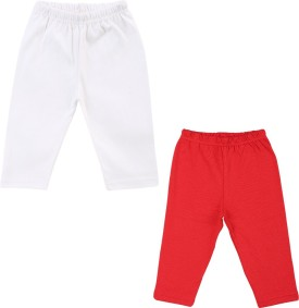 Color Fly Baby Girl's Red, White Leggings Pack Of 2