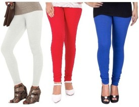 EDGE PLUS Women's Black, Blue, Red Leggings Pack Of 3