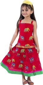 MAGNUS Animal Print Baby Girl's Lehenga Choli