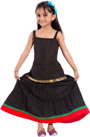 MAGNUS Polka Print Girl's Lehenga Choli