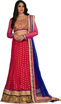 Panth Design Embroidered, Self Design, Embellished Women's Lehenga, Choli and Dupatta Set