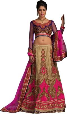 Panth Design Embellished, Embroidered, Self Design Women's Lehenga, Choli and Dupatta Set