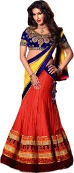 Resham Fabrics Self Design Women Lehenga Choli
