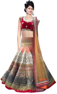 Fashion Redraksh Embroidered Women's Lehenga, Choli With Dupatta Set