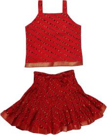 Jaipur Kala Kendra Striped Baby Girl's Lehenga Choli