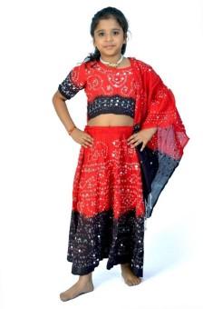 Little India Self Design Girl's Lehenga Choli - LCHEYPJ3KJSVGJJT